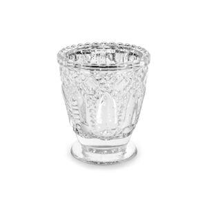 PartyDeco Svietnik - strieborný 8 cm
