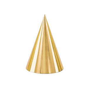 PartyDeco Párty klobúčiky - zlaté