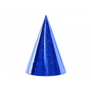 PartyDeco Párty klobúčiky - holografické modré
