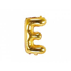 PartyDeco Fóliový balón Mini - Písmeno E 35cm zlatý