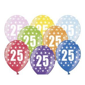 PartyDeco Balónik s číslom 25 narodeninový