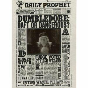 Minalima Pohľadnica Harry Potter 3D - Dumbledore: Zmätený, alebo nebezpečný?