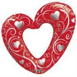 BP Fóliový balón červené srdce