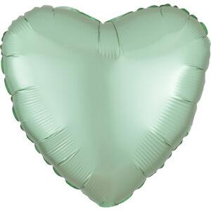 Amscan Fóliový balón srdce satén - mentolové