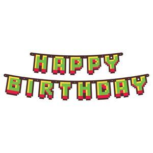 Godan Banner Happy Birthday - Minecraft 160 cm