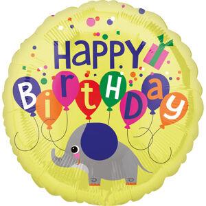 Amscan Fóliový balón - Happy Birthday Sloník