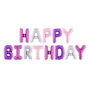 PartyDeco Fóliový balón - písmo Happy Birthday