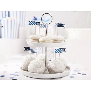 PartyDeco Mini vlajky na cupcakes - Lietadlo 6ks