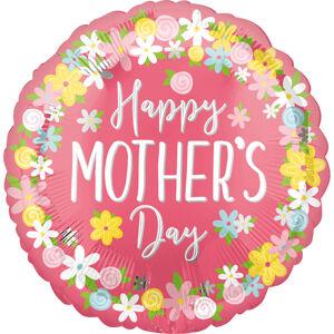 Amscan Fóliový balón s kvietkami - Deň Matiek