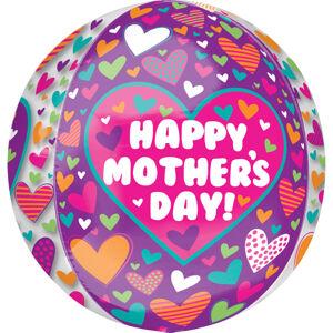 Amscan Fóliový balón so srdiečkami - Deň Matiek