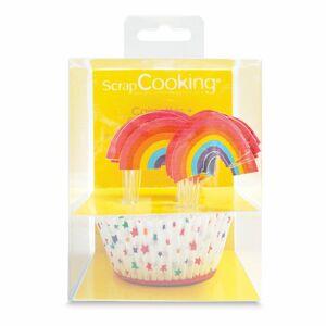 Scrapcooking Košíčky na pečenie a ozdoby na cupcakes sada - dúha  24 ks