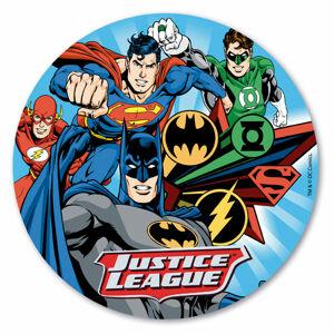 Dekora Jedlý papier - Justice League 20 cm