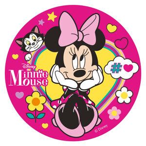 Dekora Jedlý papier - ružový Minnie Mouse 20 cm