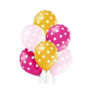Godan Sada latexových balónov - ružové, žlté bodky 6 ks