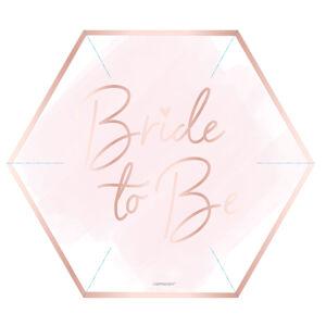 Amscan Taniere ružové - Bride to be 8 ks 22,8 cm