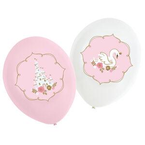 Amscan Latexové balóny Ružový zámok/Labuť 6 ks