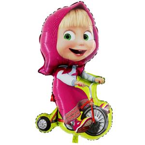 BP Fóliový balón - Máša na bicykli