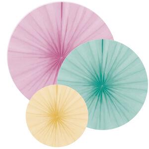 Amscan Dekoračné rozety - pastelové mix 3 ks