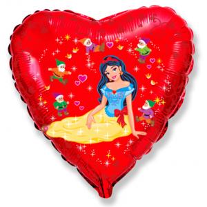 BP Fóliový balón srdce - Snehulienka