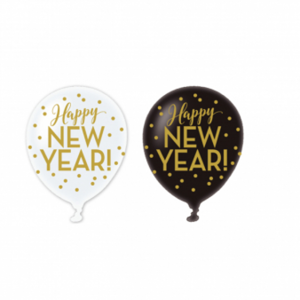 Amscan Balóniky Happy New Year - 6 ks