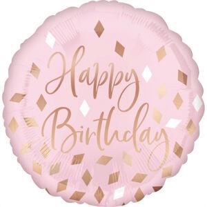Amscan Fóliový balón - Ružovozlaté narodeniny