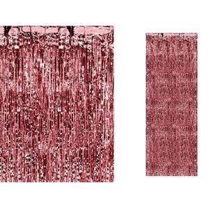 PartyDeco Party záves červený 90 x 250 cm