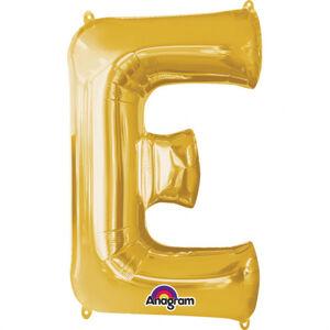 Amscan Fóliový balónik písmeno E 86 cm zlatý