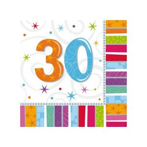 Amscan Servítky 30. šťastné narodeniny 33 x 33 16 ks